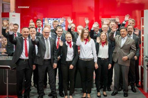 Euroblech Hannover . Messestand Steinel . Team