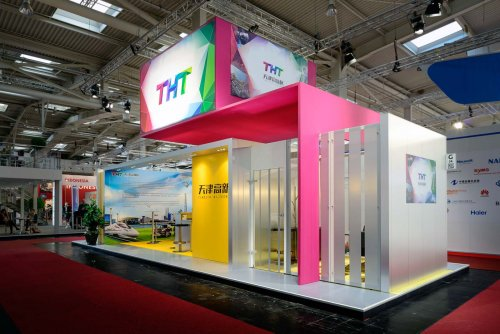 Hannover Messe . Messestand THT